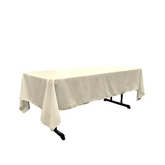 Mantel rectangular poplina de poliéster de lino de 60 por 144 pulgadas, marfil