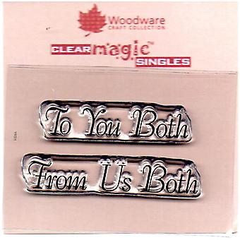 Woodware Just Words To You Both From Us Both 1.5 in x 3 in Stamp