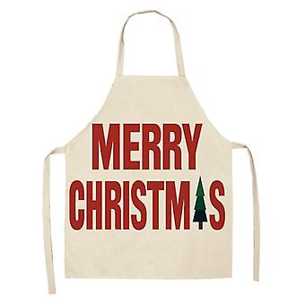Linen Merry Christmas Apron Decorations For Home Kitchen