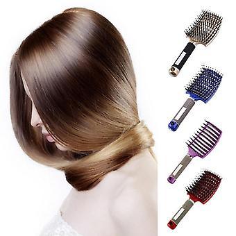 Scalp Massage Bristle Nylon nass lockig Entangle Haarbürste