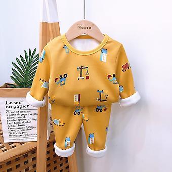 Lasten pyjamasetit, Vauvan lämmin pitkähihainen paita + housu sarjakuvahousut