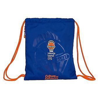 Backpack with Strings Valencia Basket Blue Orange