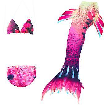حورية البحر فتاة ملابس السباحة ثلاث قطع بيكيني الذيل للسباحة jp149