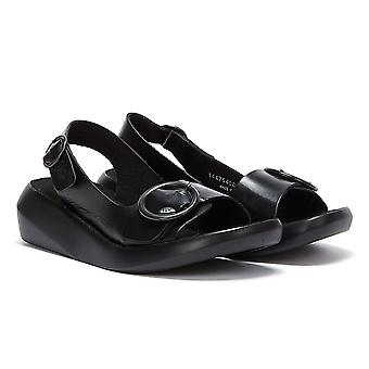 Vuela Londres sandalias negras para mujer Berk