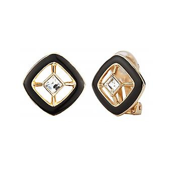 Traveller Clip Earrings With Crystal From Swarovski Gold Plated - 157252 - 624