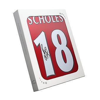 Paul Scholes ha firmato la maglia del Manchester United 1998. Confezione regalo