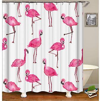 WaterColor Flamingo kuvio suihku verho