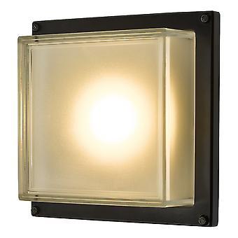 Flush Sufit Światło Ścienne Światło Matt Czarny LED IP44