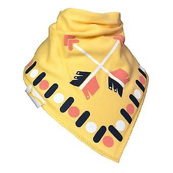 Medelstora gula pilar bandana haklapp
