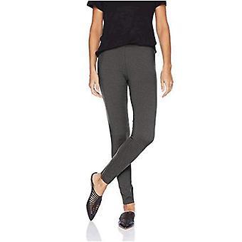 Marke - Tägliche Ritual Damen Ponte stricken Legging, schwarz/weiß Fischgrät, Medium Short