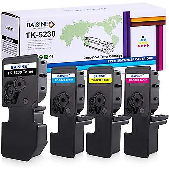 FengChun 4-Pack Ecosys P5021cdw Toner Kompatibel Kyocera TK-5230 TK5230 Toner-Kartusche TK-5230K