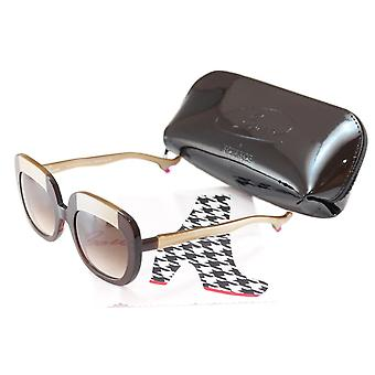 Face A Face Bocca Sunglasses Lova 1 222 Brown Cream Plastic Italy Hand Made