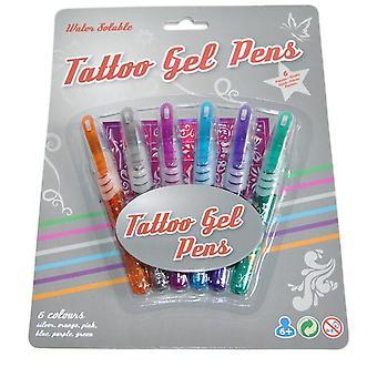 6 tattoo pens