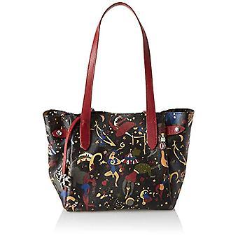 piero guidi Tote Bag, Women's Handbag, Black (Plum), 27x24x16 cm (W x H x L)