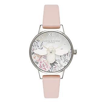 Olivia Burton Quartz Horloge met Lederen Band OB16GH09