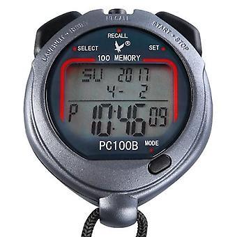 Tre file 100 ricordi consegnato cronometro sportivo con conto alla rovescia allarme pacer tempo temperatura display