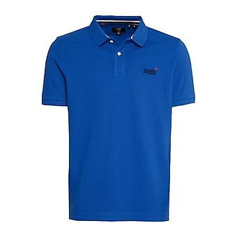 Superdry S/S Classic Pique Polo Blu