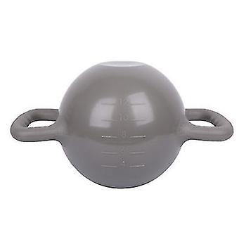 Grijze draagbare kettlebell yoga fitnessapparatuur, kan gewicht te verhogen door het injecteren van water az2638
