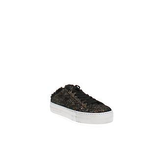 P448 | Clara Crackled Leather Open Back Platform Sneakers