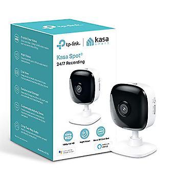 TP-Link Kasa Smart Security Camera, Baby Monitor, INDOOR CCTV, No Se requiere hub, Funciona con Alexa (Echo Spot / Show &Fire TV), Google Home / Chromecast, 1080p, Audio de 2 vías con visión nocturna (KC105)