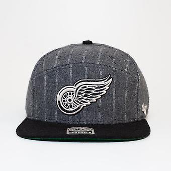 47 Brand Nhl Detroit Red Wings Twill Pinstripe Snapback Cap