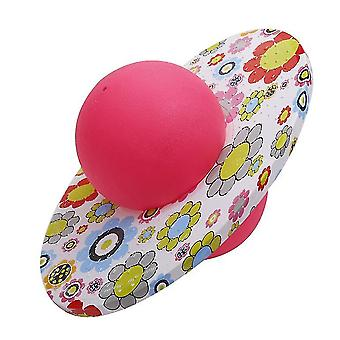 Explosion Proof Elastic Pogo Ball, Fitness Equipment New Graffiti Round Board Adult(PINK)