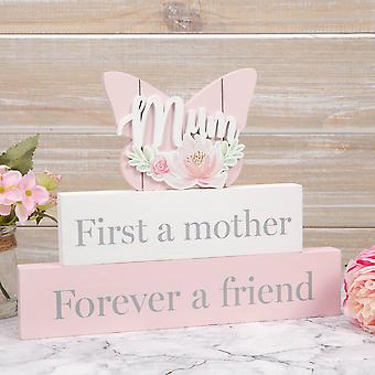 Sophia Wooden Butterfly Mantel Plaque - Mother and Friend