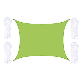 Outdoor Shade Sail Patio Sunscreen Awning Garden Sun Canopy 98% UV Block(Green)