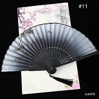 Chinesische Vintage Stil Falten Fan Kunst Handwerk Geschenk Tanz Hand Fan Home Decoration Ornamente(#11)