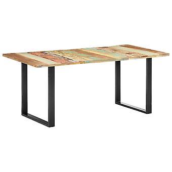 vidaXL tavolo da pranzo 180x90x76 cm legno di scarto solido