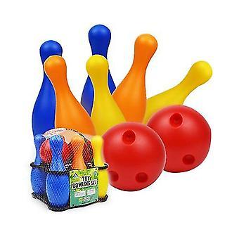 Kinder Bowling Plastik Spielzeug Kindergarten Freizeit Sport Unterhaltung 19/22CM Bowling Set