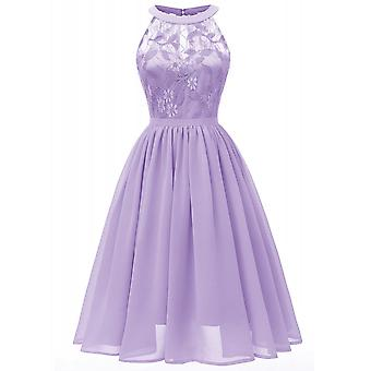 Women Sleeveless Bridesmaid Wedding Prom Dress A-line Party Gown