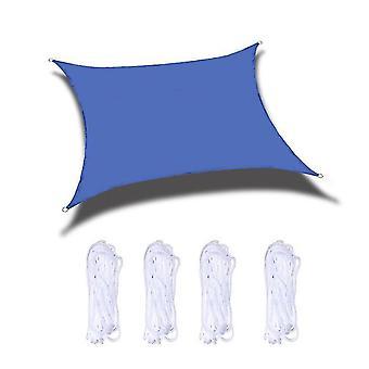 Waterdichte schaduw zeil vierkante waterdichte zon schaduw zeil luifel luifel shelter (blauw)