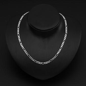 1 Pc New Fashion Solid Silvery 4mm Chain Men Necklace 16-30 Inch