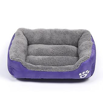 Gatto domestico, cane, letto, casa calda e accogliente, nido di pile morbido, tappetino cestini