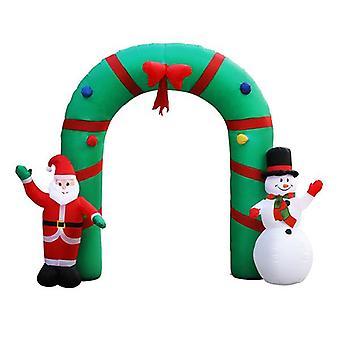 Christmas Inflatable Giant Arch Way Santa Snowman Light Decor