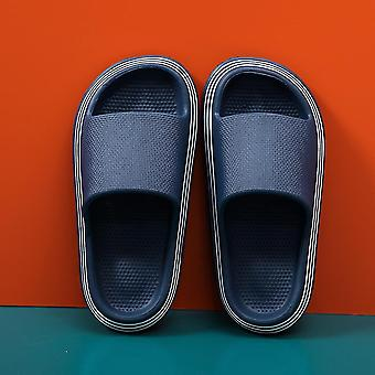 Blue 38-39 pillow slides slippers home soft thick soled sandals anti slip quick drying shower shoes lc316
