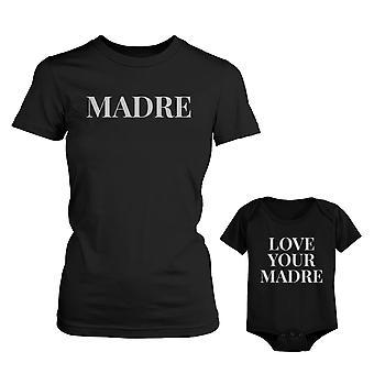 Madre Shirt voor moeder liefde uw Madre voor Baby Romper Mothers Day bijpassende Outfits