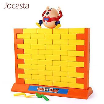 Pretend professions role playing demolishing wall game funny humpty dumpty kids puzzle building blocks bricks|gags practical
