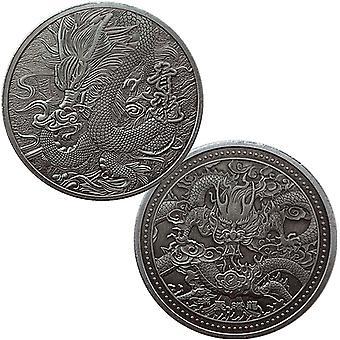 Chinas vier große Bestien, Der Drachenkönig, Die Drachenmünze, Die Drachenprägungsmünze, Nickel Ancient Silver Medallion