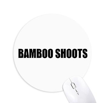 Bambus skyter vegetabilsk mat runde sklisikker gummi musemat spill kontor musemat