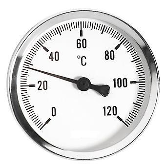 0-120 C miernik temperatury Thermo 1/2 cala termometr wprowadzania tył