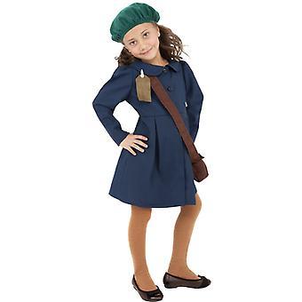 Segunda guerra mundial, evacuaron el traje de la muchacha