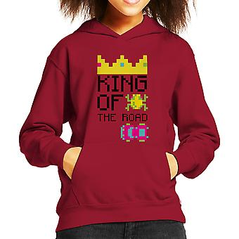 King Of The Road Frogger White Kid's Hooded Sweatshirt