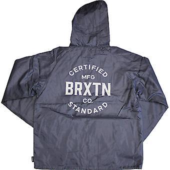 Brixton Cane Windbreaker Jacket Blue