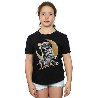 Star Wars chicas la última camiseta de Chewbacca Jedi oro