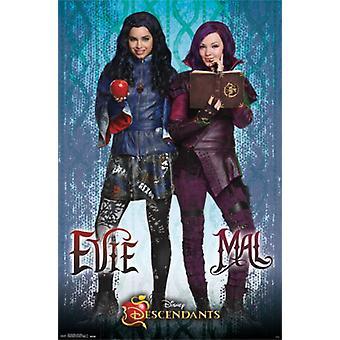 Disney jälkeläiset - Mal ja Evie juliste Juliste Tulosta