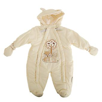 Nursery Time Baby Boys/Girls Fox And Bunny All In One Hooded Winter Snowsuit