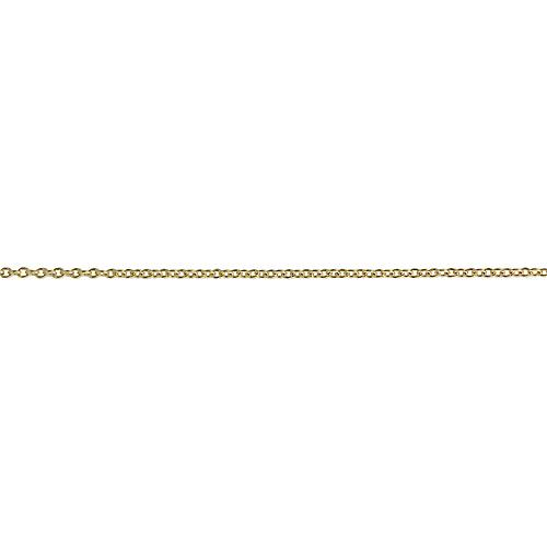 9ct Gold 6x10mm plain Initial I Pendant with a cable Chain 20 inches