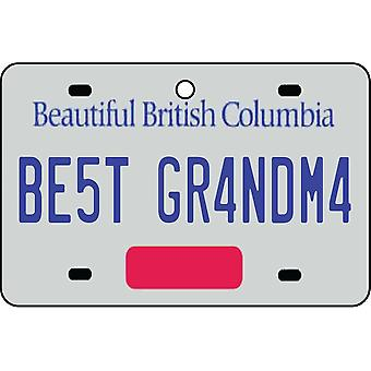 BRITISH COLUMBIA - Best Grandma License Plate Car Air Freshener